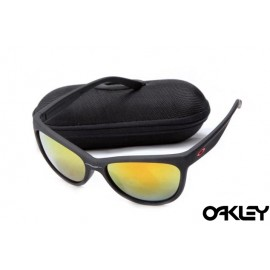 Oakley fringe matte black and fire iridium