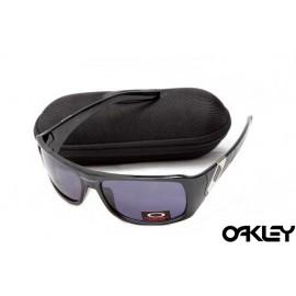 Oakley sideways sunglasses in polished black and royal purple