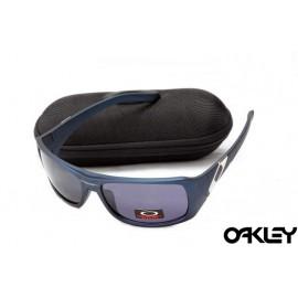 Oakley sideways sunglasses in matte blue and royal purple