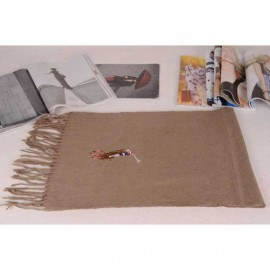 Polo cotton scarf light brown sale