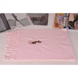Polo cotton scarf pink