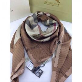 Burberry silk square scarf brown