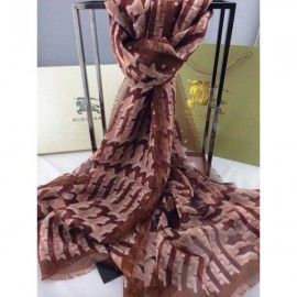 Burberry check silk english rose with brown scarf