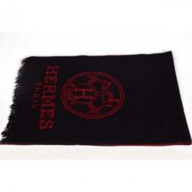 Hermes men wool scarf black sale