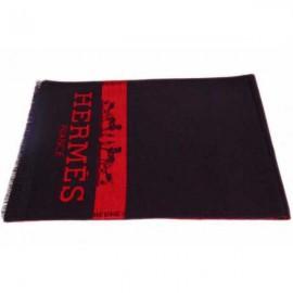 Hermes men's wool scarf black online