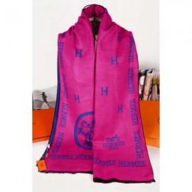 Hermes wool scarf pink