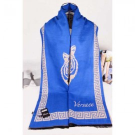 Versace cashmere blue color scarf