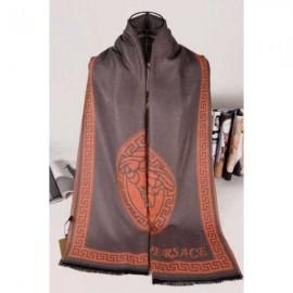 Versace medusa cashmere gray scarf
