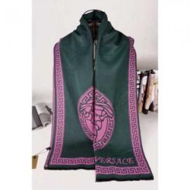 Versace medusa cashmere scarf olive